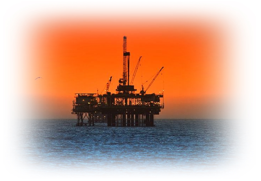 Oil Rig Sunset-1