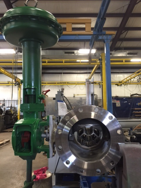 10-Inch-Fisher-V150-Control-Valve-with-Noise-Attenuator