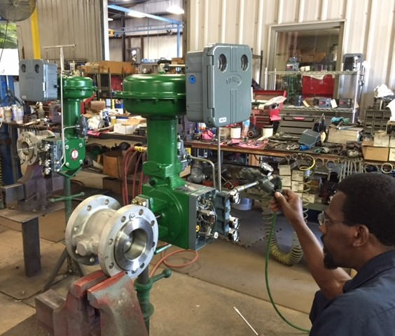 6-INCH-Fisher-V150-Rotary Control Valve-with-1052-Actutator