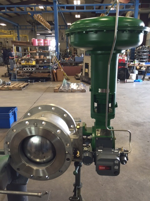 Remanufactured-Fisher-12-Inch-V150-Control-Valve-DVC6200-Positioner-1052-Actuator