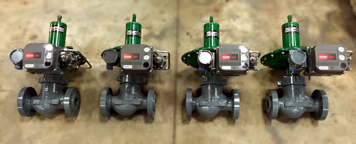 fisher-d4-control-valve-with-dvc6200-positioner
