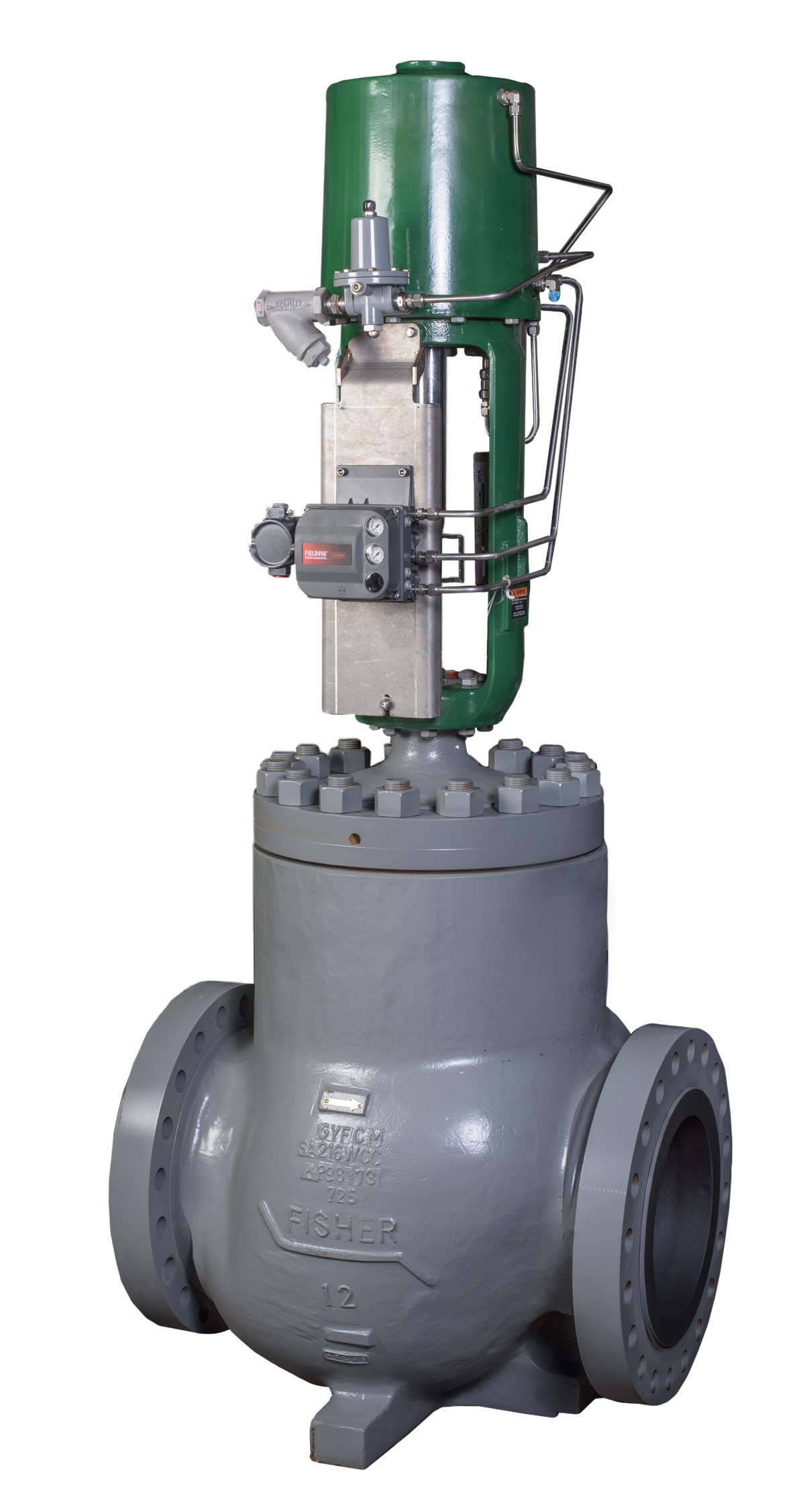 remanufactured-fisher-12-inch-EUT-control-valve-with-585C-actuator-and-dvc6010