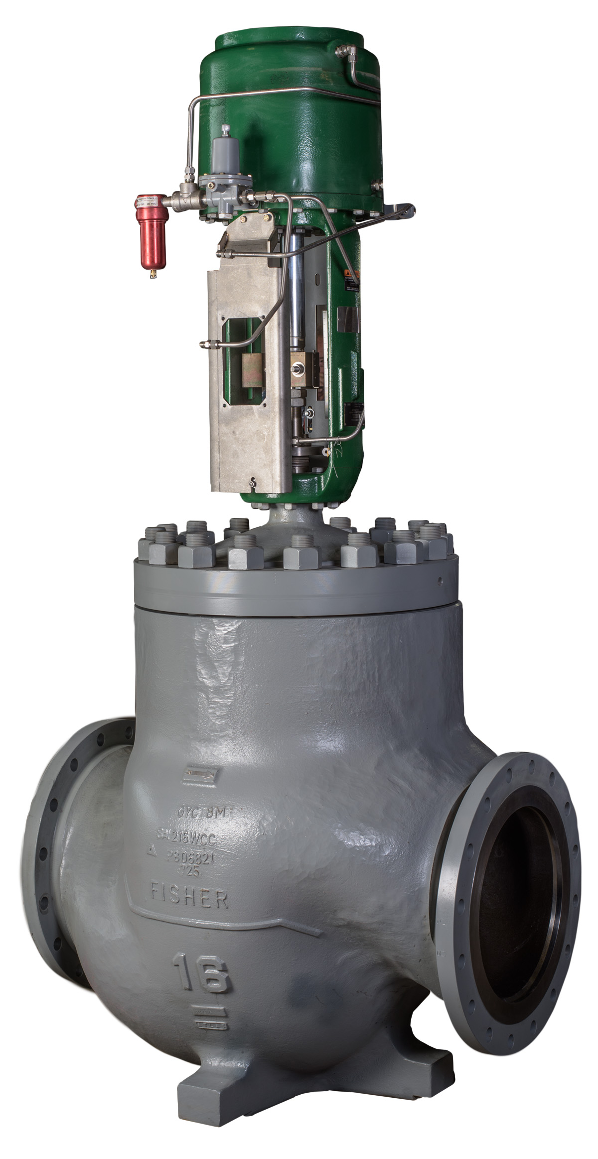remanufactured-fisher-EUT-16-inch-control-valve-with-585C-actuator